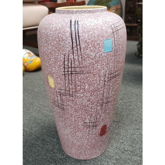 Italian Mid Century 1960's Italian Bittosi Style Pottery Lava Glaze Baluster Vase For Sale - Image 3 of 7