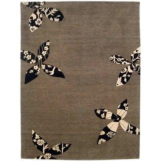 Madeline Weinrib Putty Lark Tibetan Wool Rug - 7′10″ × 10′1″