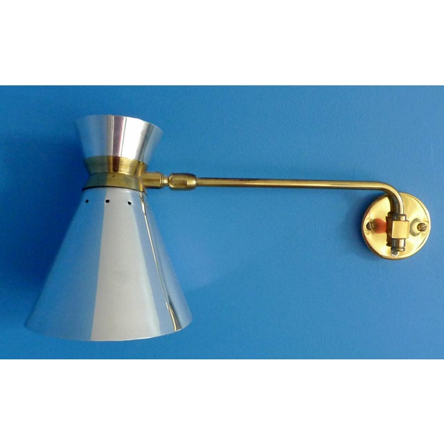 Pierre Guariche Style Adjustable Wall Sconces - A Pair - Image 3 of 9