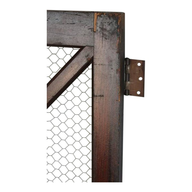 Early 18th C. Vintage American Wood and Chicken Wire Glass Window For Sale - Image 4 of 5