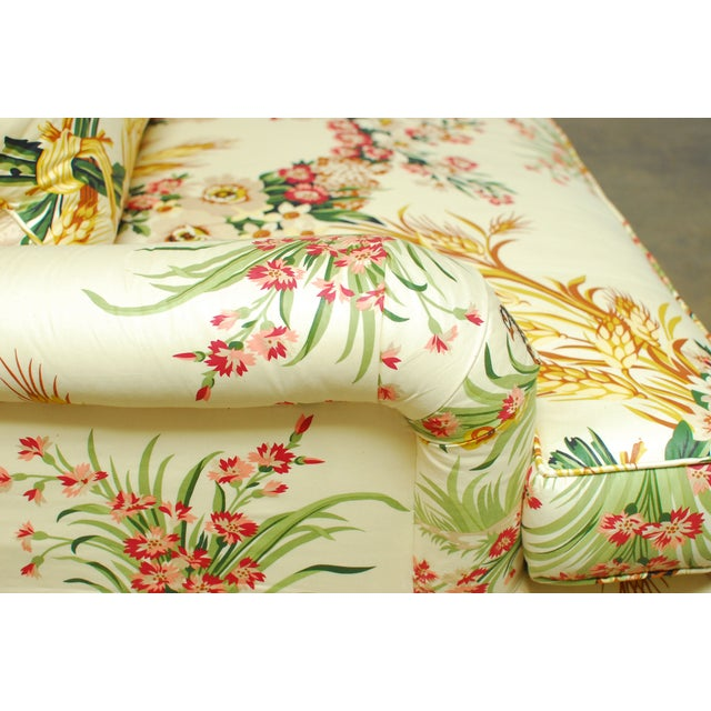 Brunschwig & Fils French Upholstered Toile Sofa For Sale - Image 7 of 10