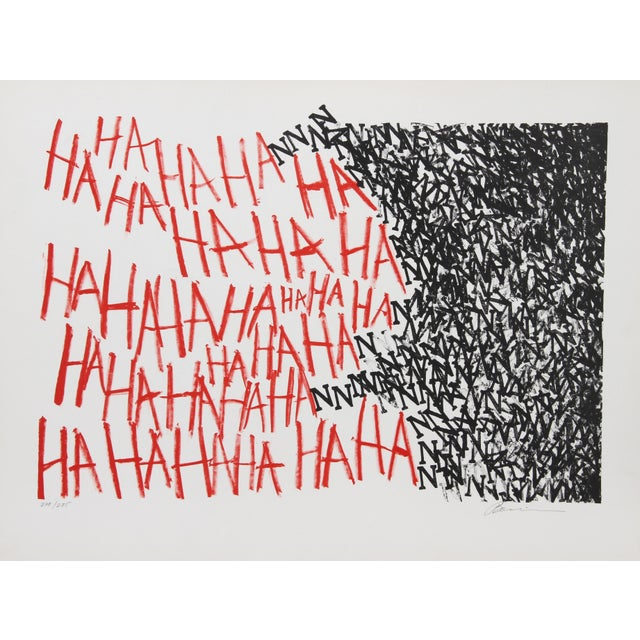 Artist: Marshall Borris, American Title: HaHaHa Year: circa 1975 Medium: Lithograph, signed and numbered in pencil...