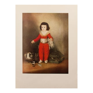 Goya's Red Boy, First Edition Lithograph, C. 1950s For Sale