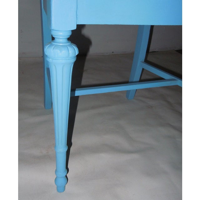 Blue Mid-Century Accent Chair - Image 7 of 8