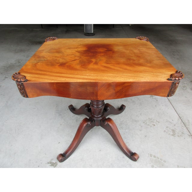 Antique Pedestal Side or Accent Table For Sale - Image 11 of 11