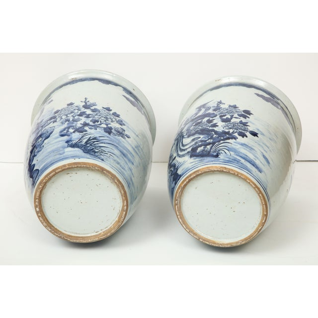 1970s Chinese Blue and White Planters - A Pair For Sale - Image 5 of 13