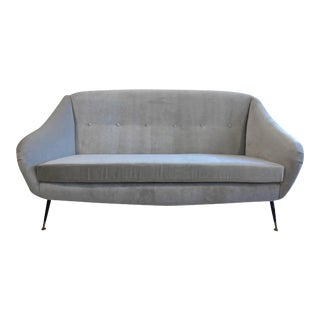 Mid Century Italian Sculpted Sofa in the style of Ico Parisi For Sale