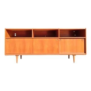 Restored Danish Modern Teak Credenza For Sale
