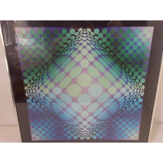 Victor Modern Geometric Print by Victor Vasarely, 1960 For Sale - Image 4 of 8