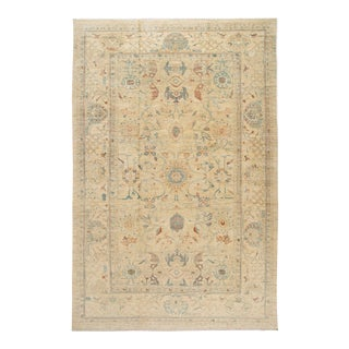 21st Century Modern Sultanabad Oversize Wool Rug 13 X 20 For Sale