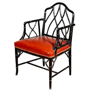 John Widdicomb Style Bamboo Chair For Sale