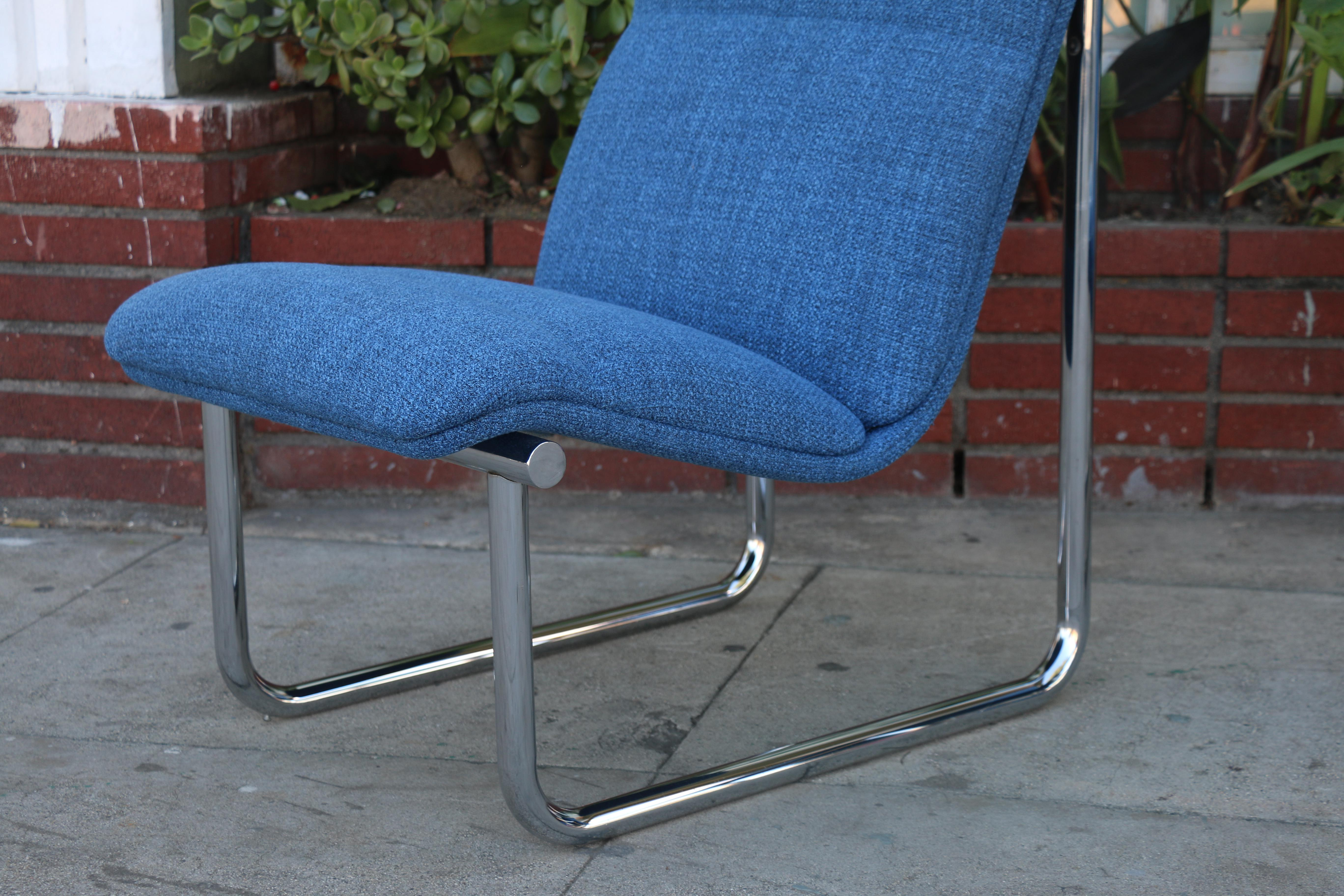 Steelcase Blue Slipper Chairs - A Pair - Image 6 of 11  sc 1 st  Chairish & Steelcase Blue Slipper Chairs - A Pair | Chairish