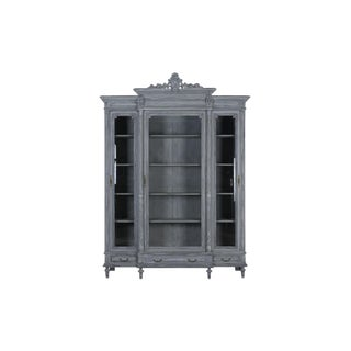 French Louis XVI Style Painted Bookcase For Sale