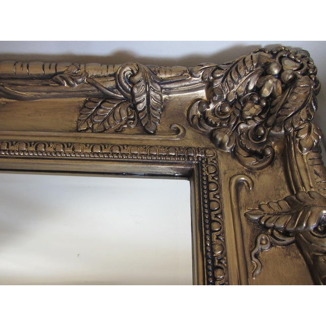 Hand Painted Burnished Gold Traditional Mirror - Image 4 of 7