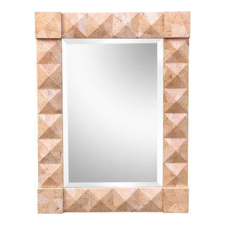 Modern Geometric Designer Mirror by Alessandro for Baker For Sale