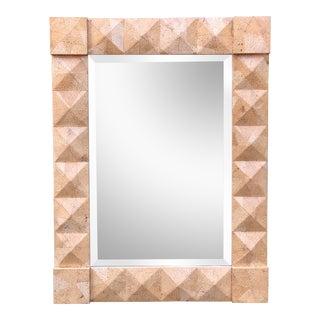 Modern Geometric Designer Mirror by Alessandro for Baker For Sale