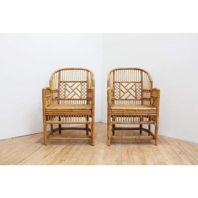 A Pair of Bamboo Brighton Pavilion Chairs - Chinese Chippendale For Sale In San Francisco - Image 6 of 10