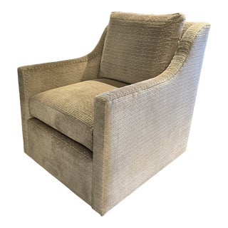 Highland House Antonio Low Profile Swivel Chair For Sale