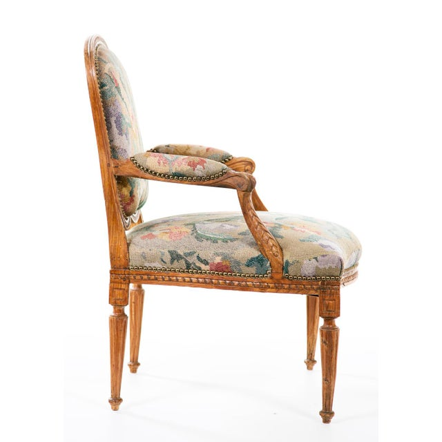 19th Century Louis XV Carved Armchair For Sale In San Francisco - Image 6 of 7