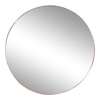 Adesso Imports Custom Half Silver Half Apricot Round Mirror