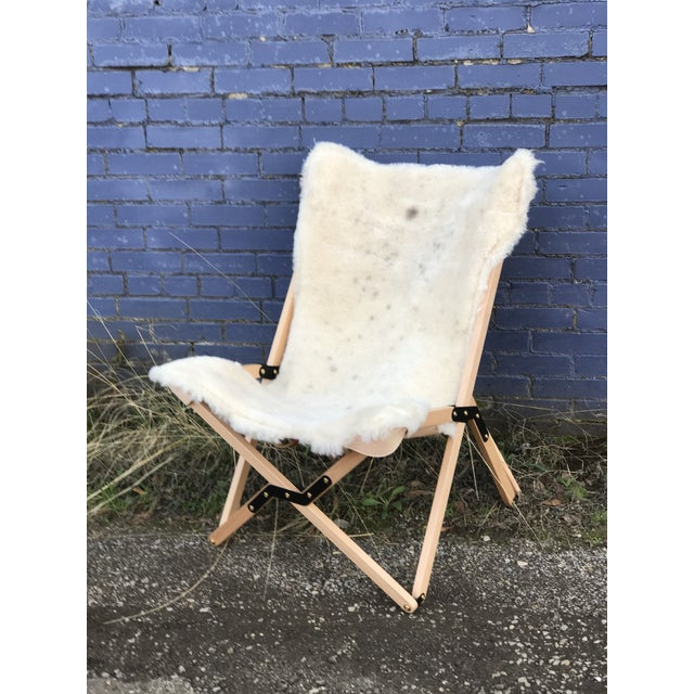 Texas Rover Shearling Humphrey Chair For Sale - Image 4 of 4