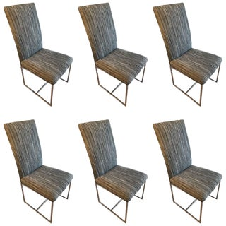 Milo Baughman Style Dining Chairs - Set of 6
