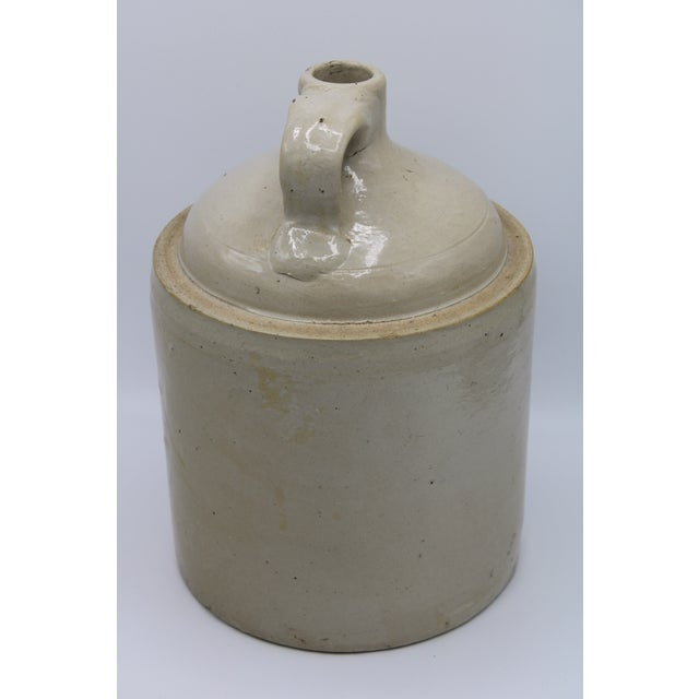Early 20th Century Antique Stoneware Farmhouse Crock Jugs - a Pair For Sale - Image 5 of 10