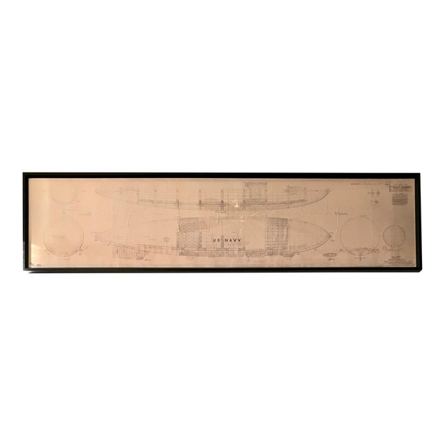 Vintage U.S. Navy Airship Blueprint For Sale
