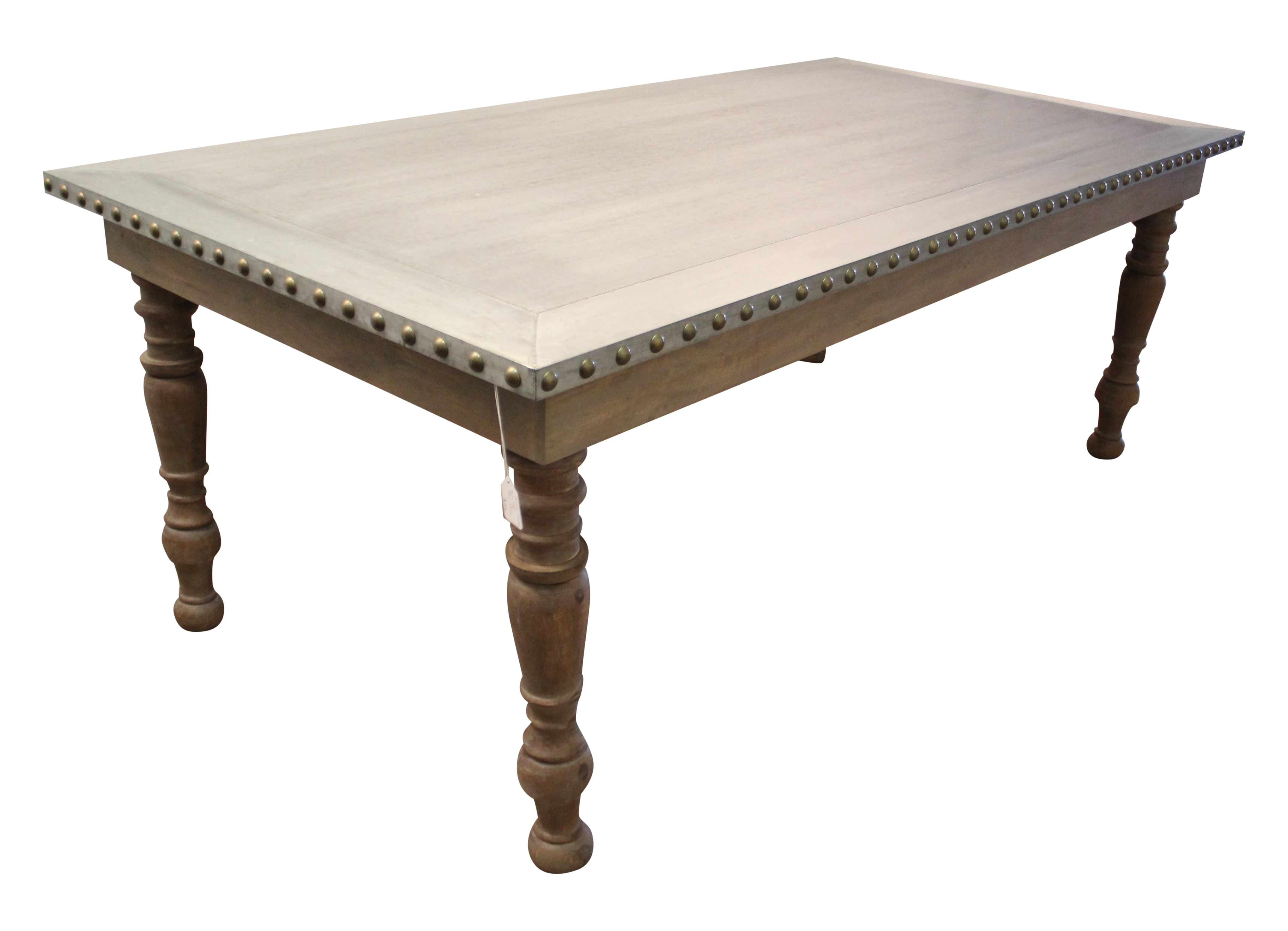 Incroyable Country French Zinc Top Nail Head Dining Table
