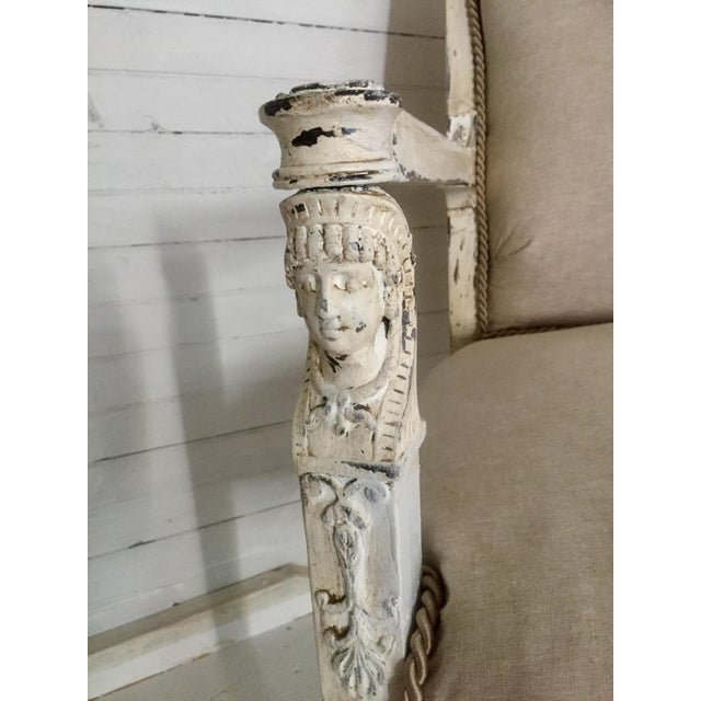 Antique French Neoclassical Setee - Image 4 of 8