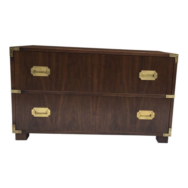 Baker Furniture Low Campaign Chest For Sale