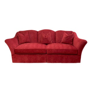 Henredon Wingback Sofa, Newly Reupholstered in Designer Chenille For Sale