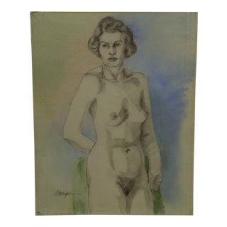 "Original Drawing Sketch ""Annette"" by Tom Sturges Jr., 1950"