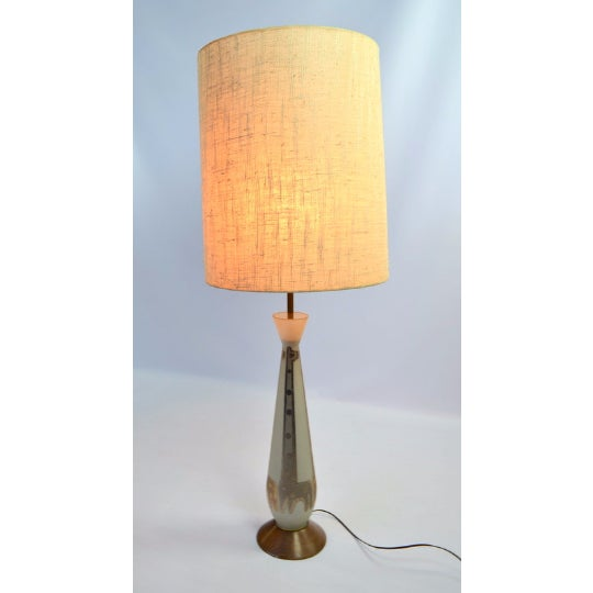 Frosted Glass Gold Giraffe Lamp with Wooden Base - Image 3 of 5