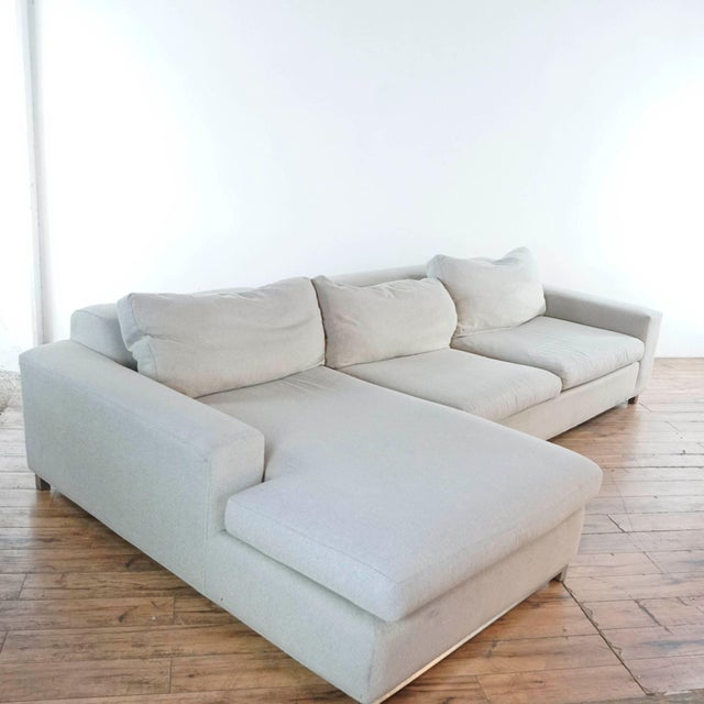 Room & Board Room & Board Upholstered Sectional Sofa For Sale - Image 4 of 11