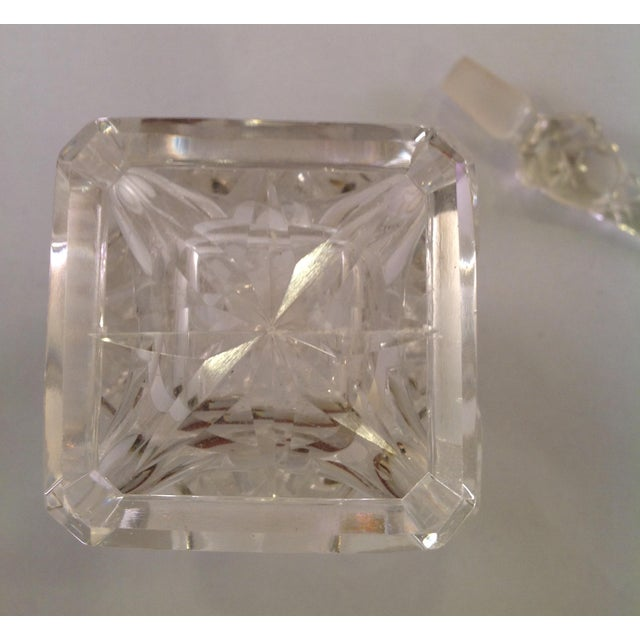 English Victorian Cut Glass Perfume Bottle For Sale - Image 5 of 6