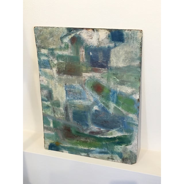 Segal Scandinavian Modern Abstract Painting - Image 4 of 9