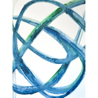 'Ocean Cell I' by Mary Gaspar, 2019. Watercolor/Acrylic on Canvas For Sale