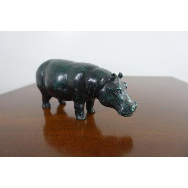 Metal Sergio Bustamante Bronze Hippo Sculpture For Sale - Image 7 of 7