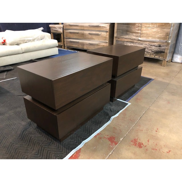 Modern Lawson-Fenning Stacked Box Nightstands - A Pair For Sale - Image 3 of 5