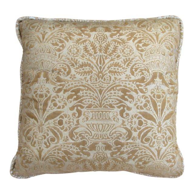 Gold Fortuny Custom Pillow - Image 1 of 5