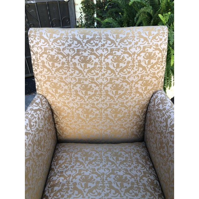 Fortuny Modern Designer Fully Upholstered Art Chair For Sale In Los Angeles - Image 6 of 7