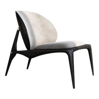 Ash & Leather Lounge Chair by Ben Wu For Sale