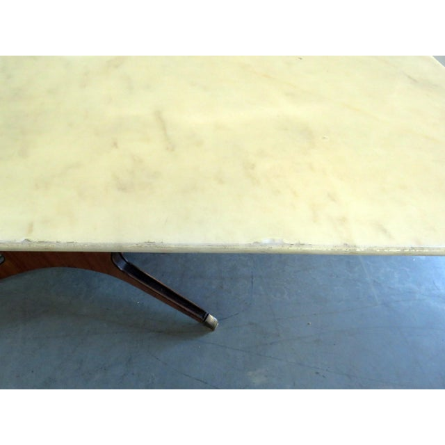 Osvaldo Borsani Borsani Marble Top Dining Room Table For Sale - Image 4 of 11