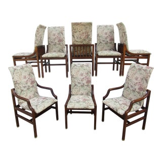 Mid-Century Modern Style Henredon Dining Chairs -Set of 8 For Sale
