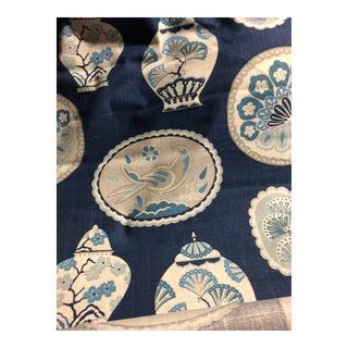 Braemore Imperial Treasure Indigo Chinoiserie Plates Fabric
