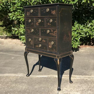 19th Century Ebonized & Hand-Painted Chinoiserie Raised Cabinet Preview