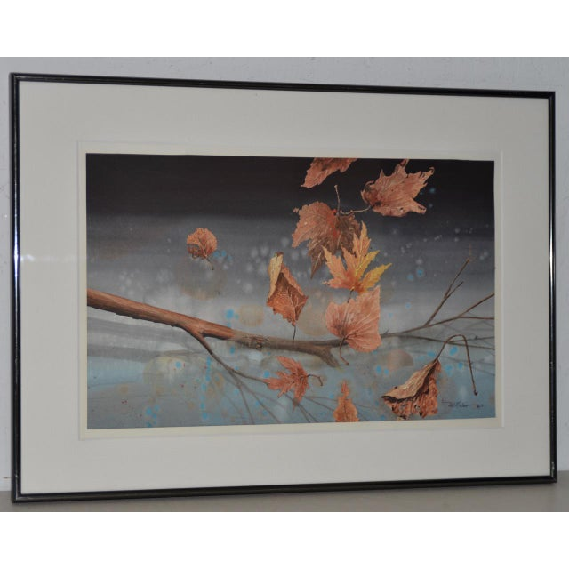 """Will Maller (20th c.) """"Spring Wake-Up"""" Original Watercolor c.1987 A fine original realism watercolor by the very talented..."""