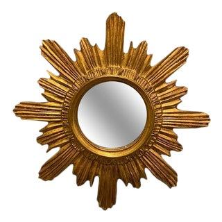 Vintage Italian Gilt Sunburst Mirror For Sale