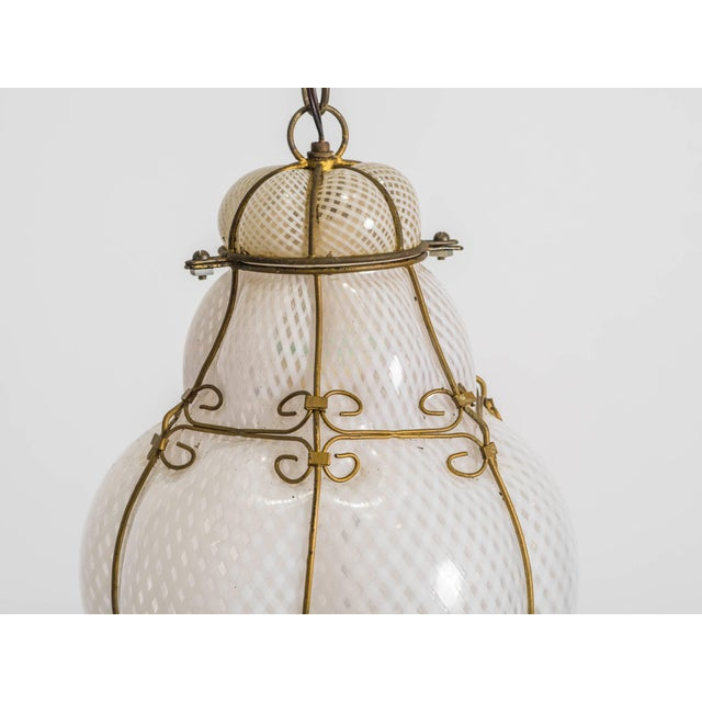Italian Handblown Murano Lantern For Sale - Image 4 of 9